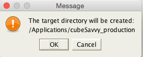 create target directory